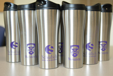Mugs with Schulich Medicine and Dentistry logo and Western University logo