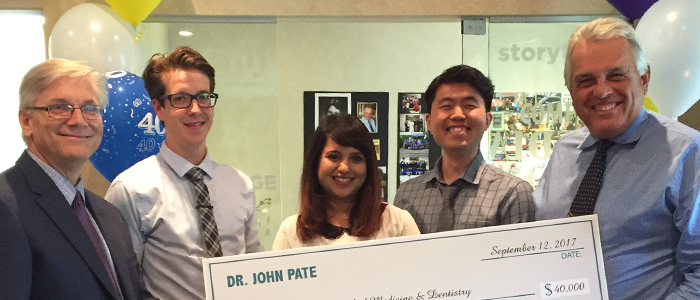 Alumnus makes donation to mark 40 years of dental practice
