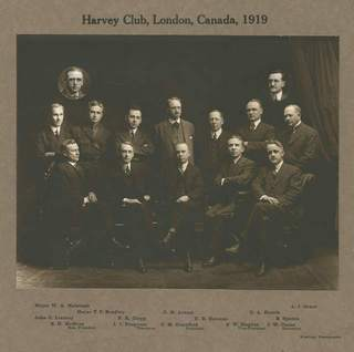 Harvey Club of London in 1919