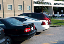 Cars parked at Schulich Medicine & Dentistry