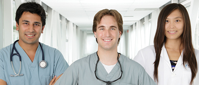 3 students at Schulich Medicine & Dentistry
