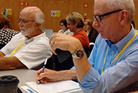 Faculty attending workshop