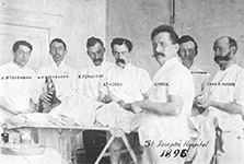 A group of interns from St. Joeseph's Hospital