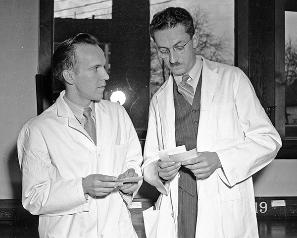 Dr. Murray Barr and Dr. Ewart Bertram