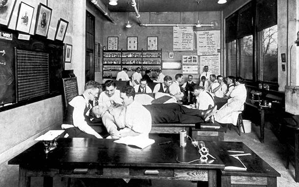 Students in lab ottaway South Street building