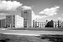Construction on the new Medical Sciences Building in the early 1960s
