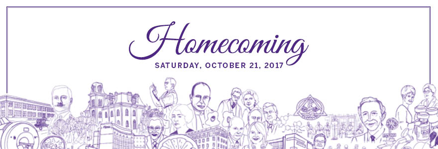 Homecoming graphic illustration