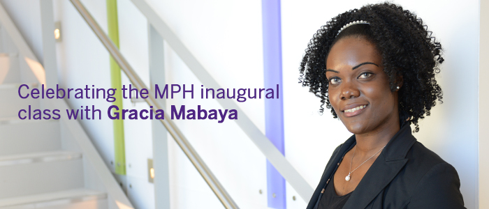 Celebrating the MPH inaugural class with Gracia Mabaya