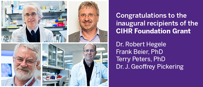 Researchers from Schulich Medicine & Dentistry receive more than $23.5 million in grants from CIHR