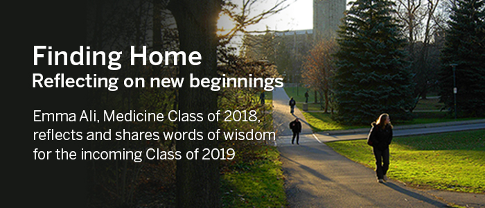 Finding Home: Reflecting on new beginnings in medicine