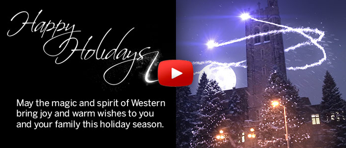 Happy Holidays from Western University