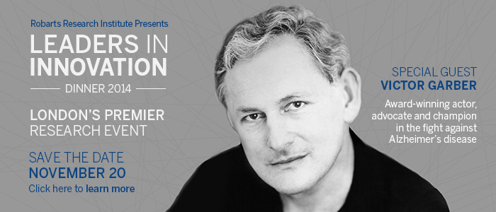 Save the Date - November 20 for Leaders in Innovation Dinner with special guest Victor Garber