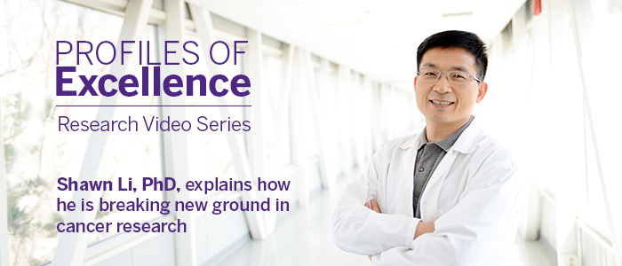 Shawn Li explains how he is breaking new ground in cancer research