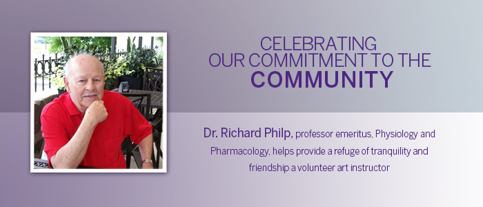 Dr. Richard Philp, professor emeritus, Physiology and Pharmacology, is Providing a refuge of tranquility and friendship