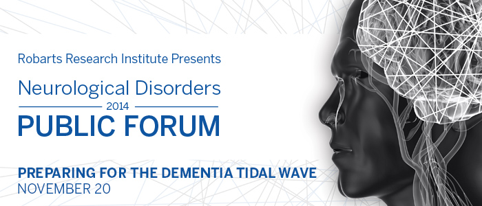 Neurological Disorders Public Forum: Preparing for the Dementia Tidal Wave