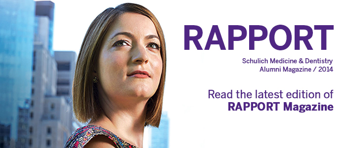 Read the latest edition of Rapport Magazine, our alumni publication