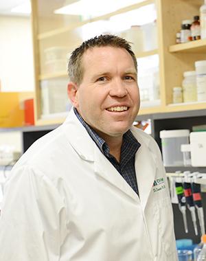 Dan Hardy in his lab