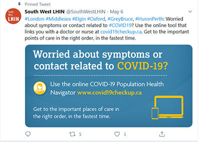 Worried about the symptoms of COVID-19? Use the online COVID-19 tool at www.covid19checkup.ca