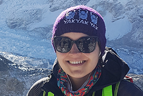 Photograph of Dr. Suzana Buac on Everest